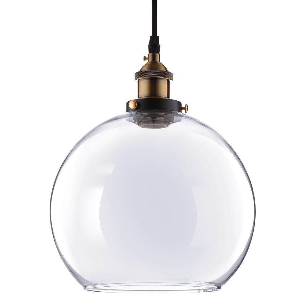 9 4/5 in Vintage Classic Clear Glass Pendant Light Globe Shade For Kitchen Living Room Home Restaurant Spa Hotel Coffee Shop Bar