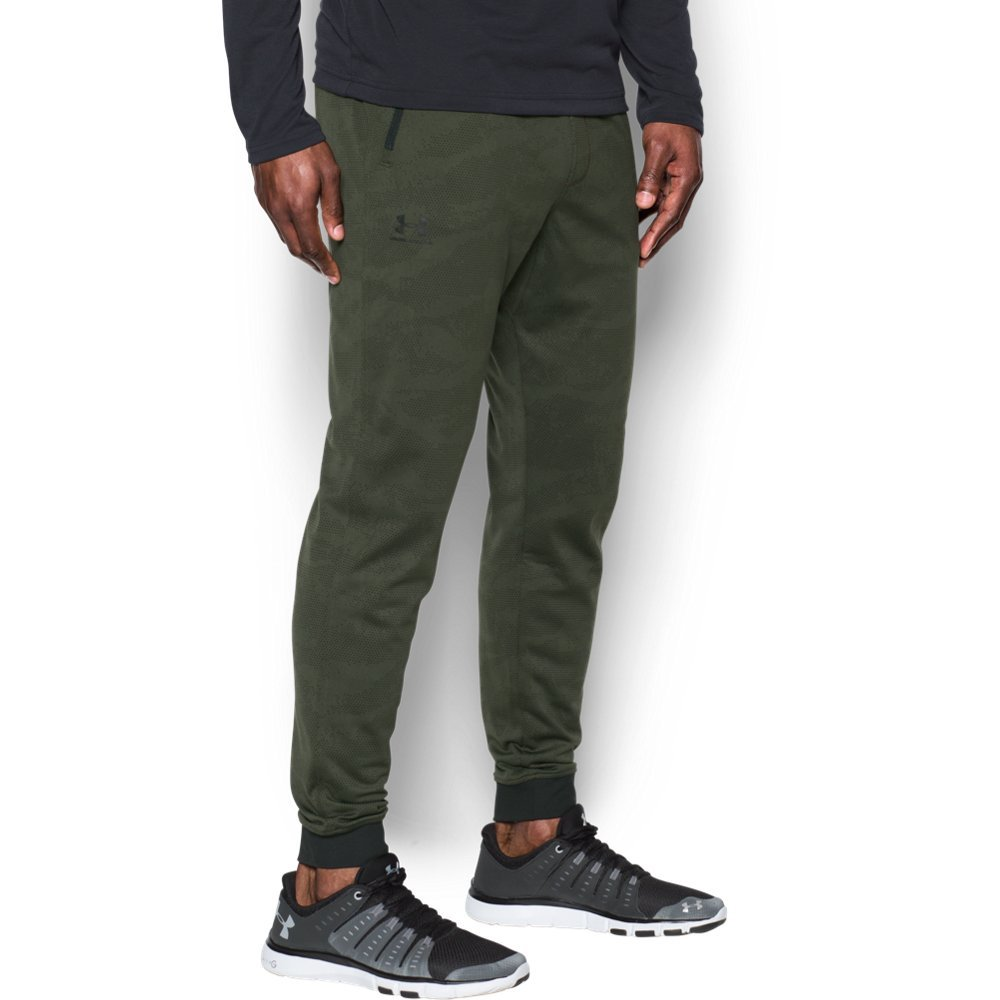 Under Armour Men's Sportstyle Joggers, Downtown Green /Silver, XXX-Large
