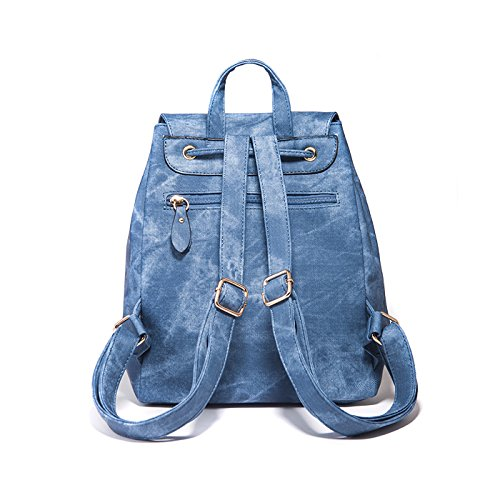 Backpacks Lightweight Girls Blue Vintage Travel Schoolbag Color Candy for Small Canvas Tisdaini Backpack Women Cute fxq5w51Y