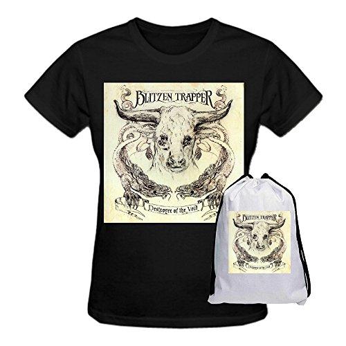 Blitzen Trapper Destroyer Of The Void Premium cotton Women's Tee Shirt Round Neck Black