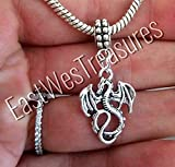 EWT Igneel targaryen dragon mother of dragons wings wing Game of thrones Charm Pendant for fit all brand & designer charm bracelets and any chain necklace