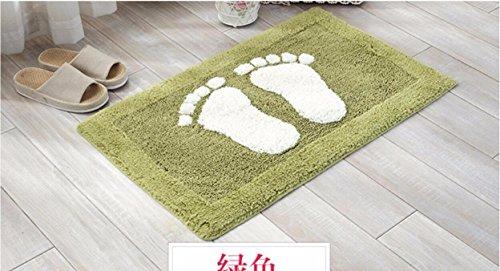 Cotton dust control mats bathroom mats bed mats -4570cm Green by ZYZX