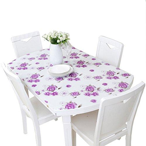 B 81135CM XZG Nappe d'impression, table de salle à hommeger créative en plastique de salon multifonctionnelle imperméable à la chaleur PVC nappe PVC longueur 120-130CM Nappe de table