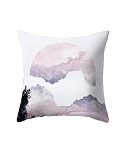 wintefei Modern Living Room Decoration Abstract Square Pillow Case Cushion Cover-3#