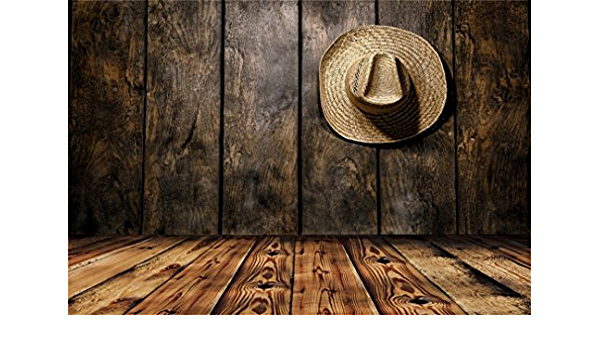 10x6.5ft Black Cowboy Hat Photography Backdrop Western Style Grunge Wooden Board Wall Photography Background Cool Boys Girls Men Adutls Photo Studio Props