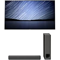 Sony XBR-55A1E 55 Bravia OLED 4K UHD HDR TV and HT-MT300 2.1 Channel Compact Soundbar with Wireless Subwoofer (Charcoal Black)