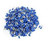 uxcell 1000 Pcs RV2-5L AWG 16-14 Blue PVC Sleeve Pre Insulated Ring Terminals Connector