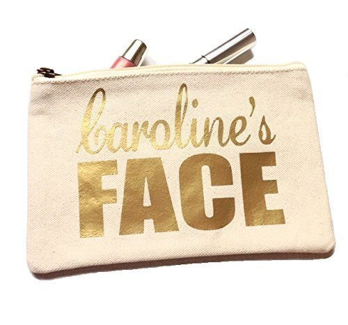 ededf379bf3b Amazon.com: Face It Personalized Make Up Bag, Cosmetic Bag: Handmade