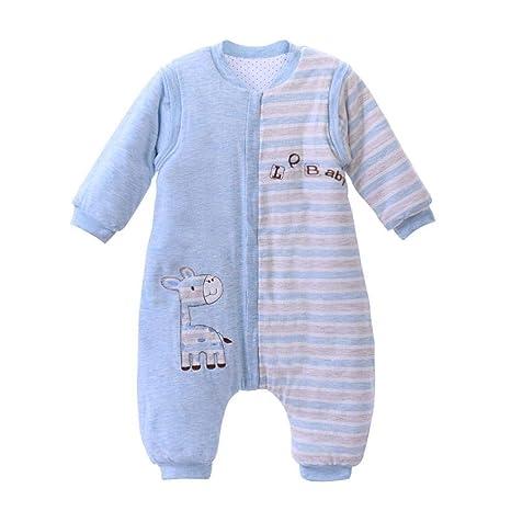Gleecare Saco de Dormir para bebé,Dibujos Animados algodón Fractura Pierna otoño Invierno Largos Manga