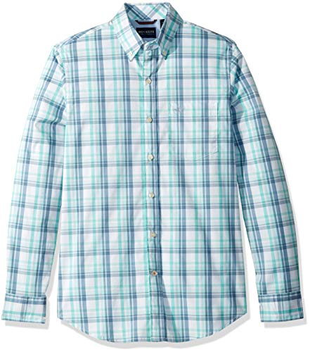 (Dockers Men's Long Sleeve Button Front Comfort Flex Shirt, Willey - PLAID)