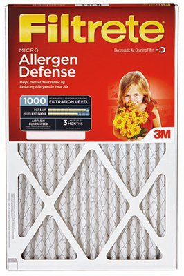 Filtrete 9803-2PK-HDW Reduction Filter Electrostatic Micro Allergen Pleated 2//Pack