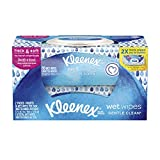 Kleenex Wet Wipes, For Hands and Face, No Chemicals, On-the-go, Flip-top Pack, 56 Wipes, 2 packs, Gentle Clean to remove dirt and makeup