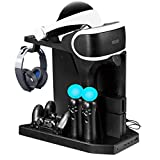 Charging & Display Vertical Stand for PS VR, DOUBI Controllers Charging Station with Cooling Fan for PS4 / PS4 Pro / PS4 Slim