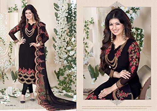 etnico pakistano dritto misurare per culturale georgette Indiano vestito cutom 923 indiano salwar ultimo wRATd0