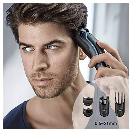 Braun Multi Grooming Kit MGK3980 Black/Blue - 9-In-1 Precision Trimmer for Beard & Hair Styling