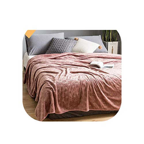 Embossed Plush Throw Blanket for Sofa, Couch or Bed Cuddly and Fluffy Lavish Soft Warm Plush Faux Fur Blanket Bed Sheet Cover,Color 4,200X230cm