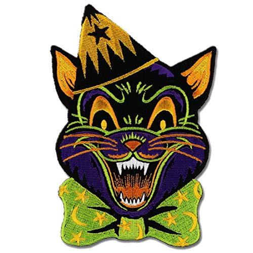 Crazy Cat Patch Embroidered Iron On