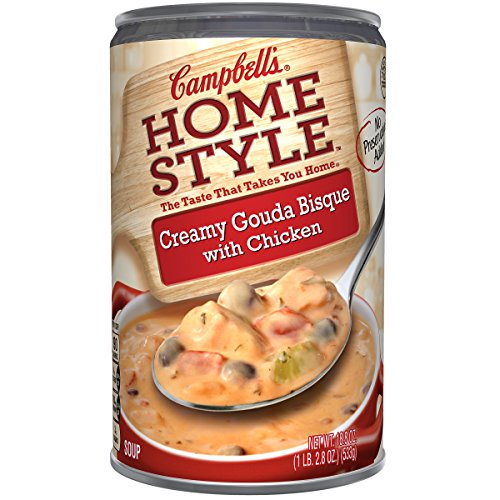 Campbell's Homestyle Soup, Creamy Gouda Bisque with Chicken, 18.8 Ounce (Pack of 12)