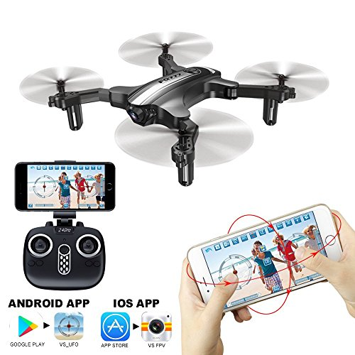 Drone Mini RC Quadcopter with Camera Wifi FPV Altitude Hold, CF Headless Mode, One Key Take Off/Landing, Portable Foldable Arms, Phone App Control, FQ777 FQ31 Helicopter RTF Ideal Gift For Beginner by FQ FUQI MODEL