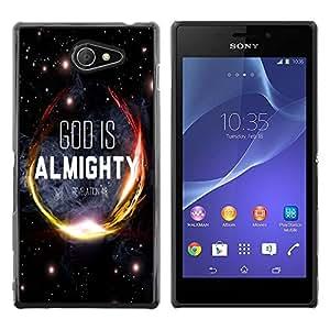 Dragon Case - FOR Sony Xperia M2 - god is almighty - Caja protectora de pl??stico duro de la cubierta Dise?¡Ào Slim Fit