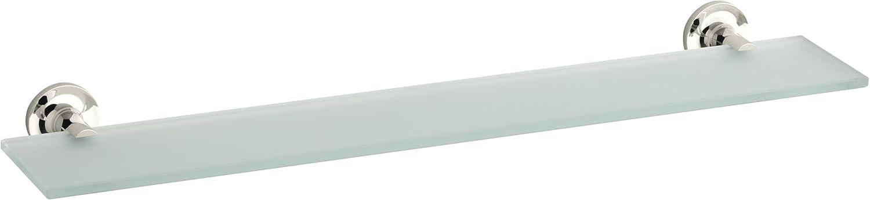 Vibrant Moderne Brushed Gold Kohler K-14440-BGD Purist Glass Shelf