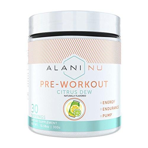 Alani Nu Pre Workout Powder w/Caffeine, L-Theanine & Beta Alanine, Citrus Dew, 30 Servings