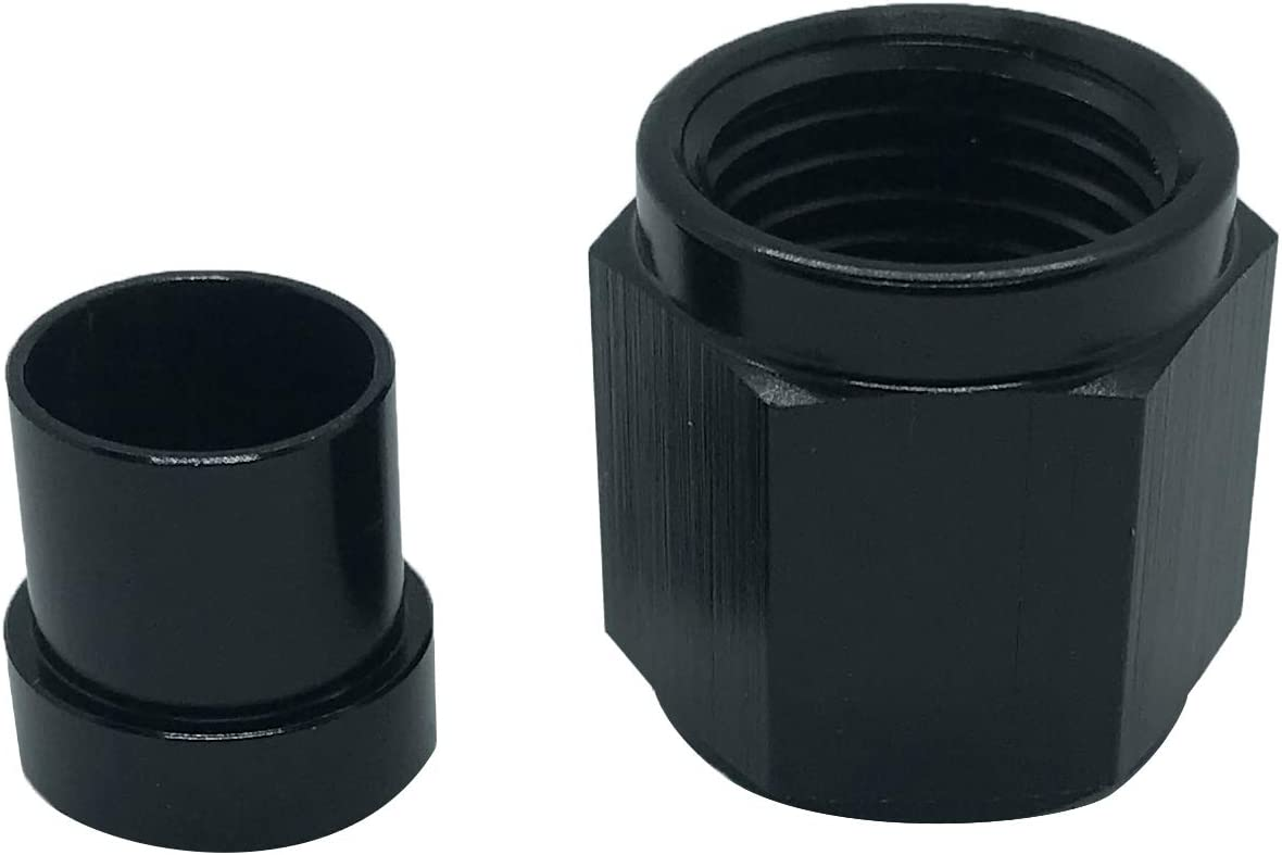12AN Male Flare Blanking Plug Fitting Aluminum Hose Fitting Hex Head Cap Lock Tube Adapter AN12 Black