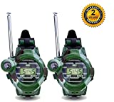 Watch Walkie Talkies for Kids Long Range Two-Way Radio Walky Talky Camo Outdoor Army Toys 150 Meters (2 Pack)