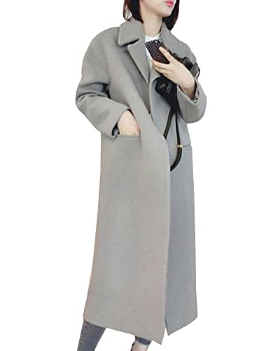Mujer Chaqueta Larga De Elegante Abrigo Trench Jacket Coat Outwear Manga Larga Chaqueta Suelto Ropa