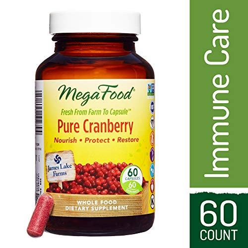 MegaFood – Pure Cranberry, Farm-Fresh Support for Urinary Tract Health and Immune Defenses, Vegan, Gluten-Free, Non-GMO, 60 Capsules (FFP) For Sale