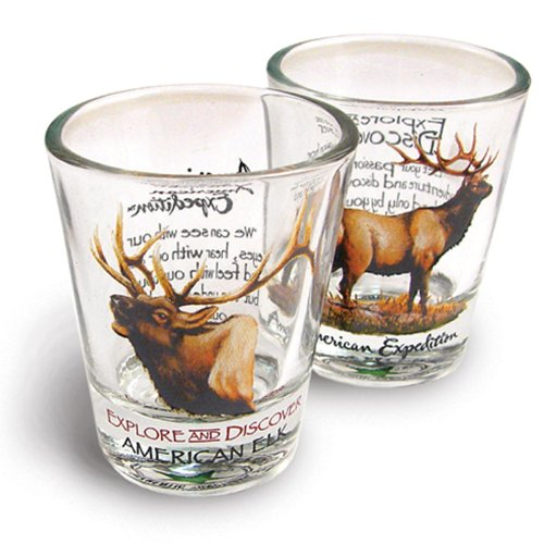 Elk Shot Glass Set<br>Set of 2