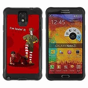 A-type Arte & diseño Anti-Slip Shockproof TPU Fundas Cover Cubre Case para Samsung Galaxy Note 3 III / N9000 / N9005 ( Funny MC Sign )