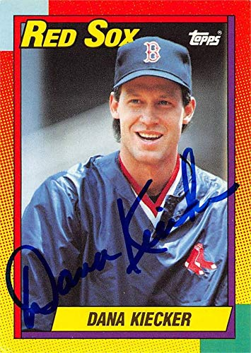 Dana Kiecker autographed Baseball Card (Boston Red Sox, 67) 1990 Topps Traded #50T - Baseball Slabbed Autographed Cards