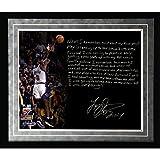 NBA New York Knicks Framed 16x20 Larry Johnson Facsimile '4 Point Play' Story Photo