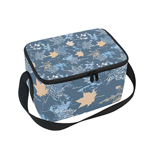 Candy Mold Front (Bule Maple Leaf Mold Adult Lunch Box Lunch Insulated Bag Large Cooler Tote Bag for Men, Women Large Soft Cooler Insulated Picnic Bag)