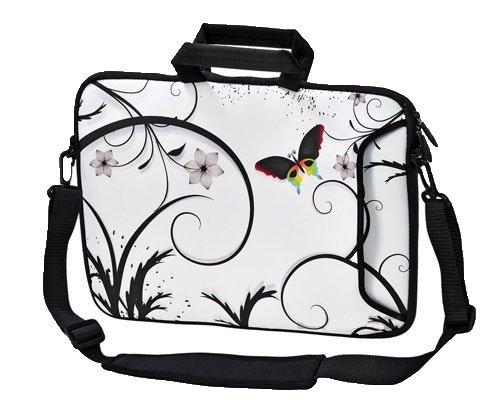 Ektor - Bolso al hombro para mujer - Papillon & Fleurs Blanc
