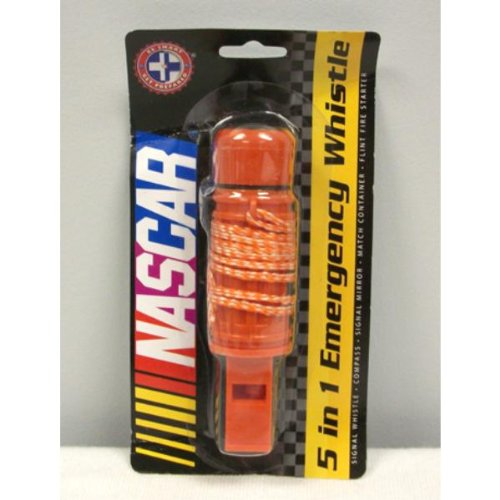 Nascar 5 in 1 Emergency Whistle Camping Survival Tool ()