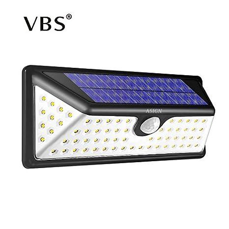 2 piezas: lámpara LED de energía solar PIR sensor de movimiento luz de pared 73