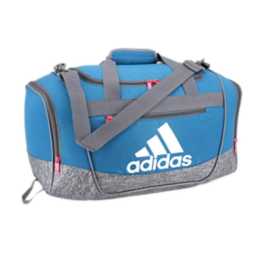 adidas Defender Iii Small Duffel, Active Teal/Onix Jersey/Onix/White/Real Pink, One Size