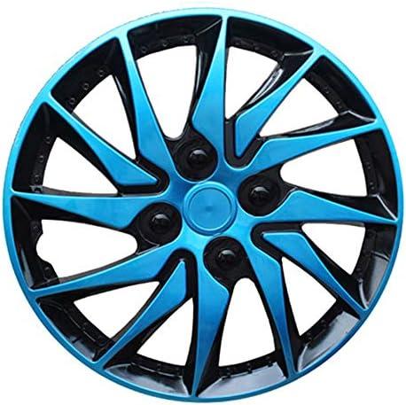 """IQQIホイールトリム-15"""" インチホイールキャップシルバー・ブラック、ユニバーサルフィット、車などの車両,Blue set of 4"""