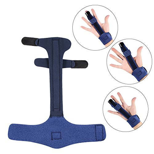 Trigger Finger Extension Splint, Adjustable Fixing Belt Hand Support for Straightening Curved, Finger Fractures Care, Locked & Stenosing Tenosynovitis, Tendon Release & Pain Relief by ZJchao