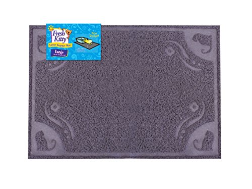 Fresh Kitty Decorative Litter Mat, Gray