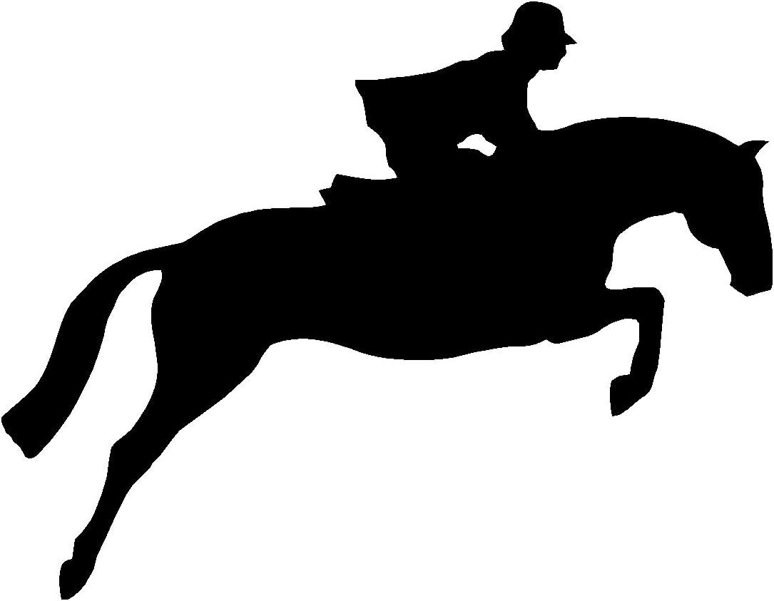 Show Jumper Equine Discipline Oval Car Window Decal Black /& White Sticker