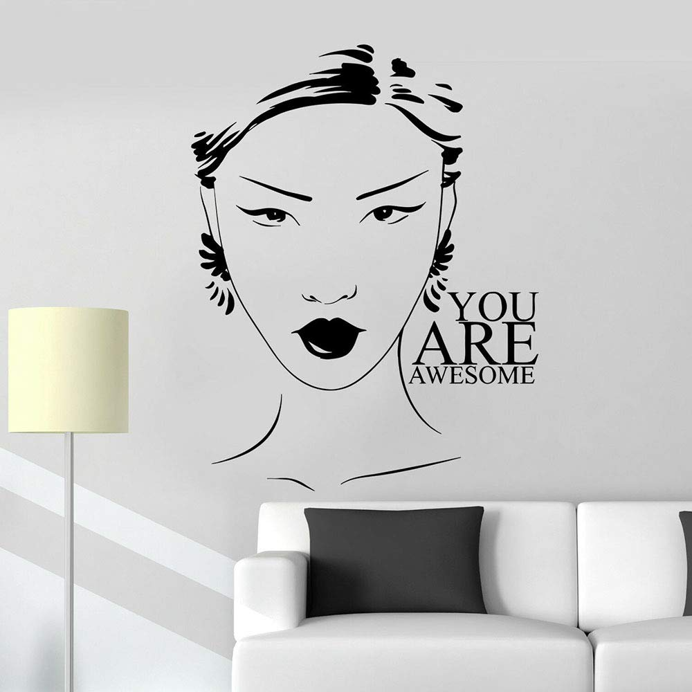 jiushivr Salón de Belleza Tatuajes de Pared Mujer Chica Cita ...