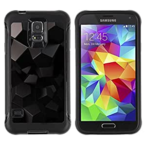 "Pulsar iFace Series Tpu silicona Carcasa Funda Case para Samsung Galaxy S5 V , Negro reflectante 3D Gray"""