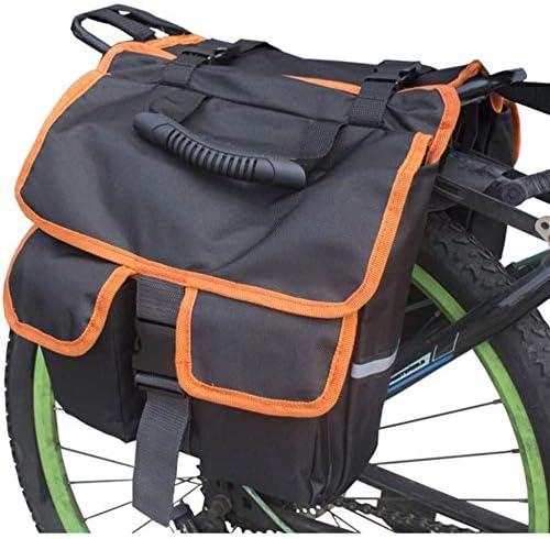 自転車ラックパニア多機能自転車リアラックサドルバッグ、ハンドル付き自転車クッションバッグ,A