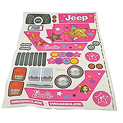 MLToys Replacement Stickers for Power Wheels Pink Jeep Wranglers: Toys & Games