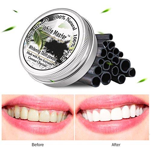 Teeth Whitening Powder Smoke Coffee Tea Stain Remove Natural Bamboo