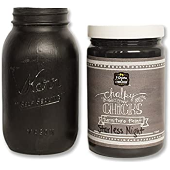 Chalk Finish Paint - Furniture & Cabinet Paint (32 oz., Starless Night)