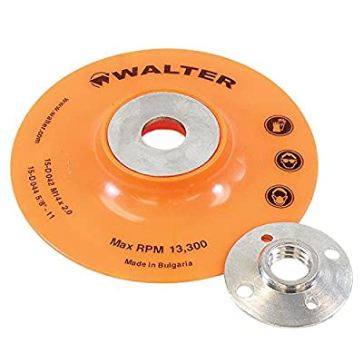 Walter Surface Technologies 15D044 Backing Pad Assemblies- 4 ½ in .Sanding Disc Pad. Abrasive Wheel Pads